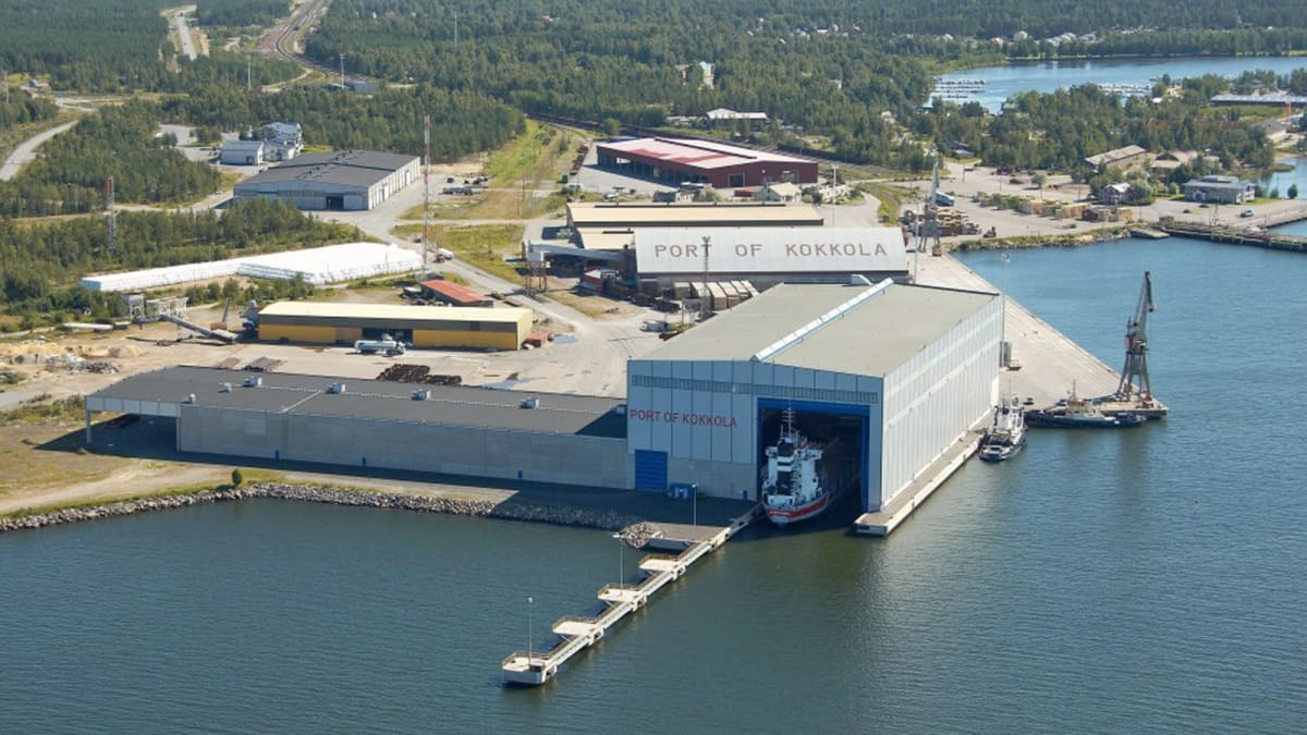 Kokkolan jokasään satama. Kuva Kokkolan sataman mediapankki.