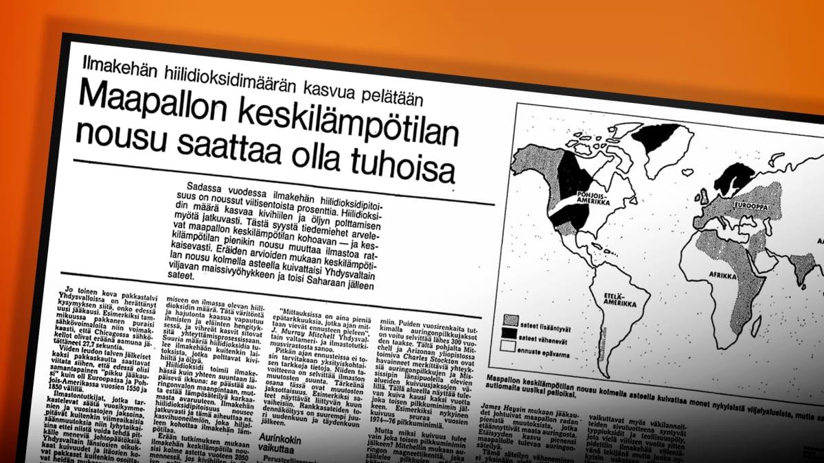 Helsingin Sanomien lehtileike vuodelta 1978.