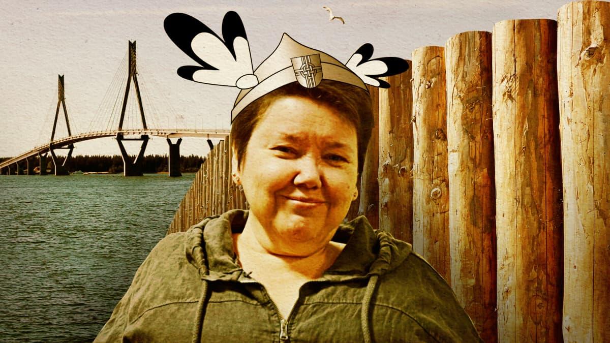 Mustasaaren valtuuston puheenjohtaja Carola Lithén.