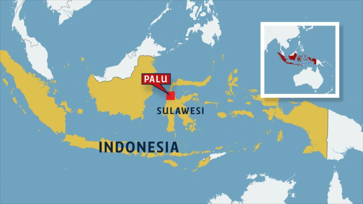 Indonesian kartta.