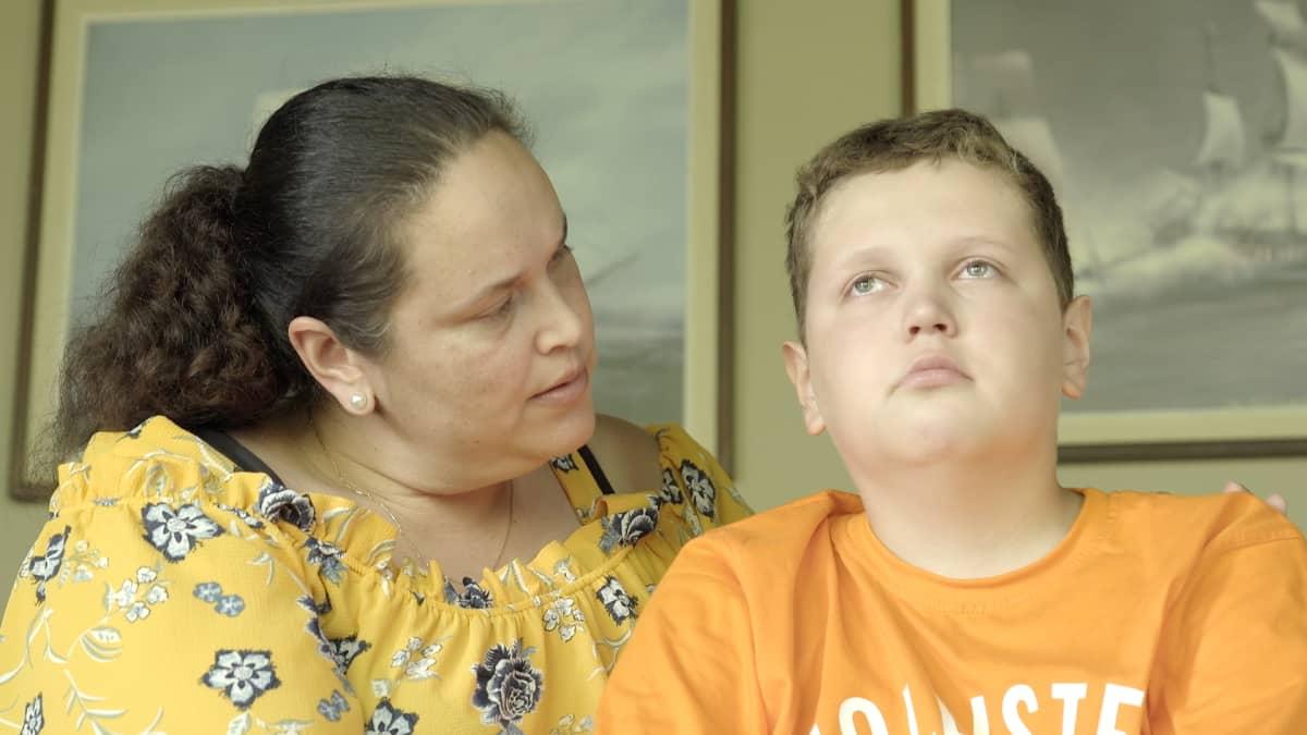 Eric Iljin ja äiti Mirta Iljin.