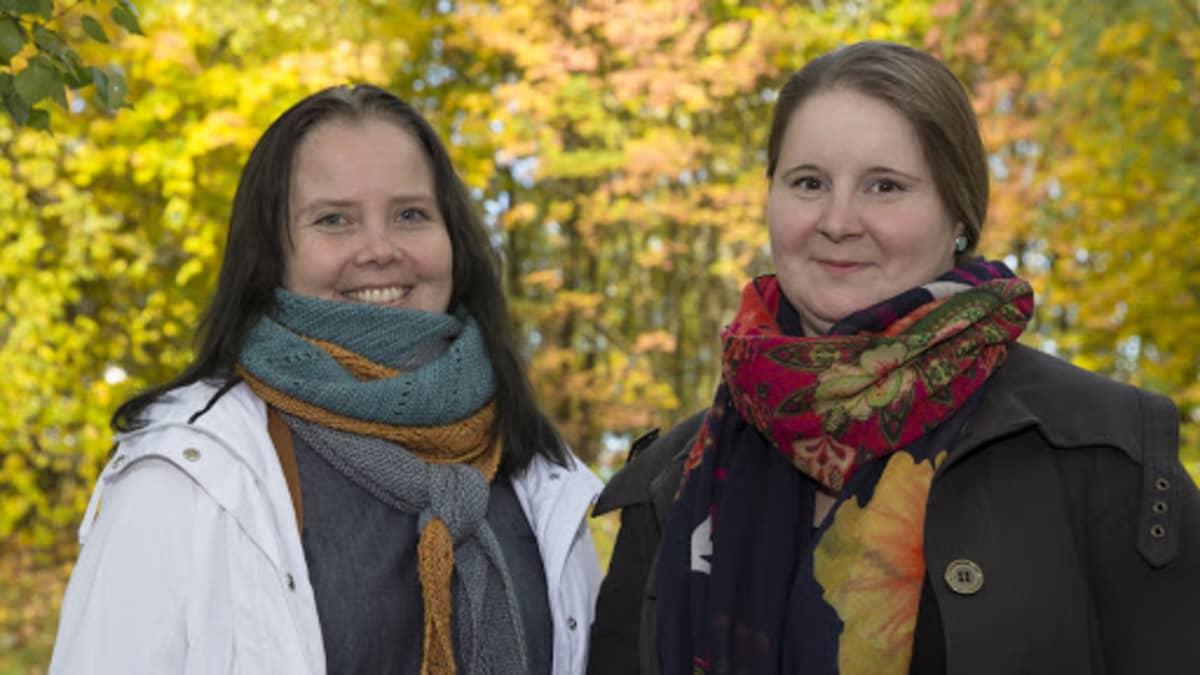 Kuvassa ovat Minna Partanen ja Merja Kaija