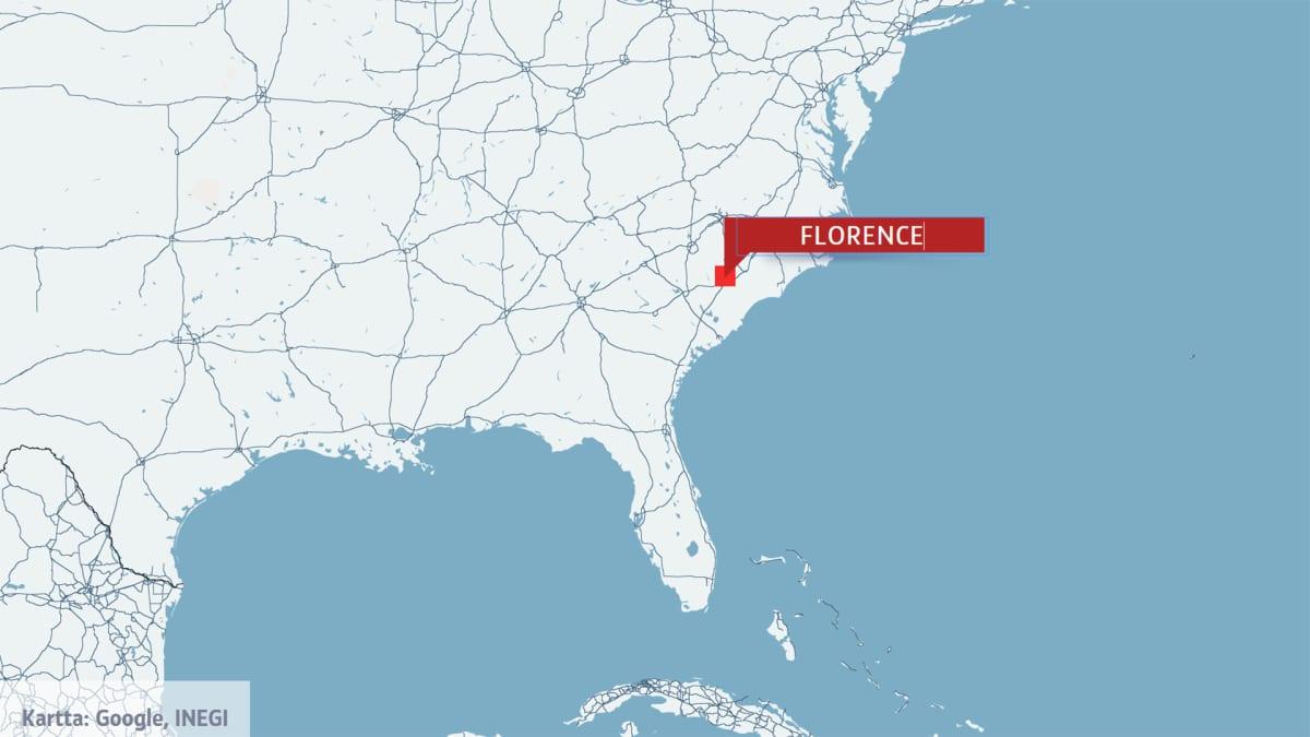 kartta jossa Florence