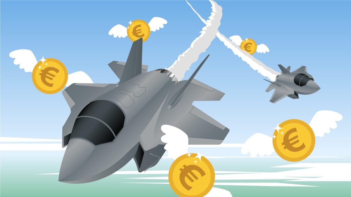 Kuvitus F-35 hävittäjistä