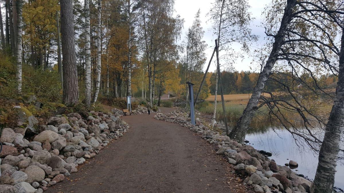 Lappeenrannan rantaraitti Saimaa vieressa