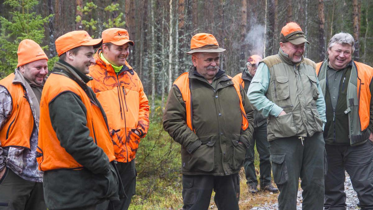 Hirviporukka hirvenmetsästys metsästys
