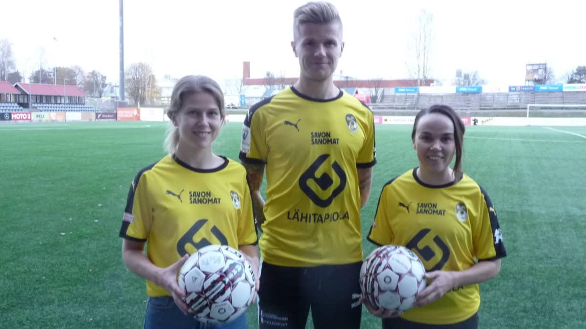 Paula Auvinen, Petteri Pennanen ja Neea Berg.