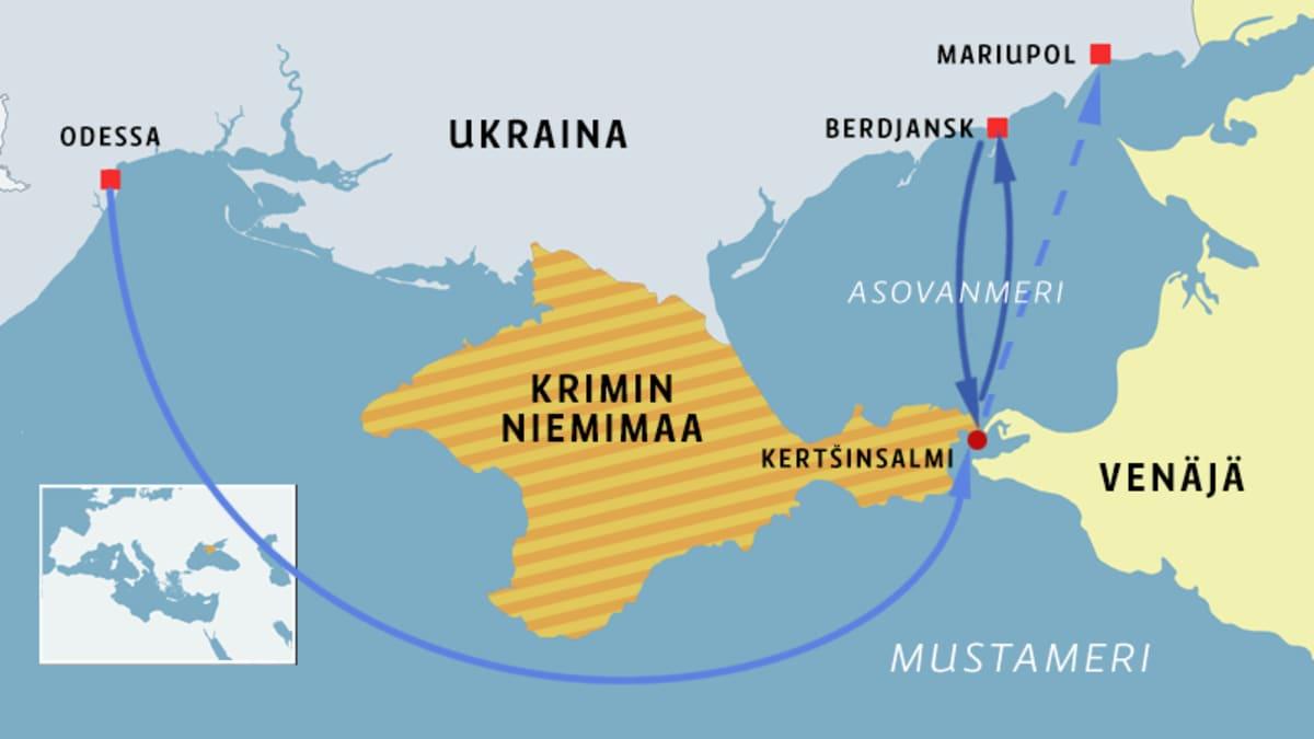 Karttagrafiikka Krimin niemimaasta