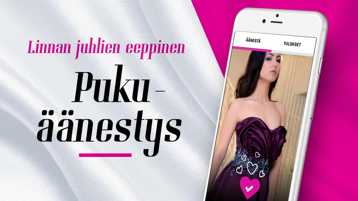 Äänestä Linnan juhlien lumoavinta pukua Yle.fi-sovelluksessa.