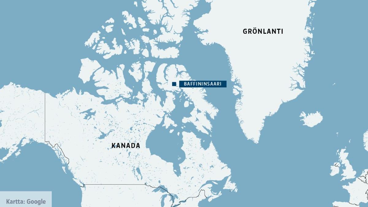 Baffininsaaren kartta