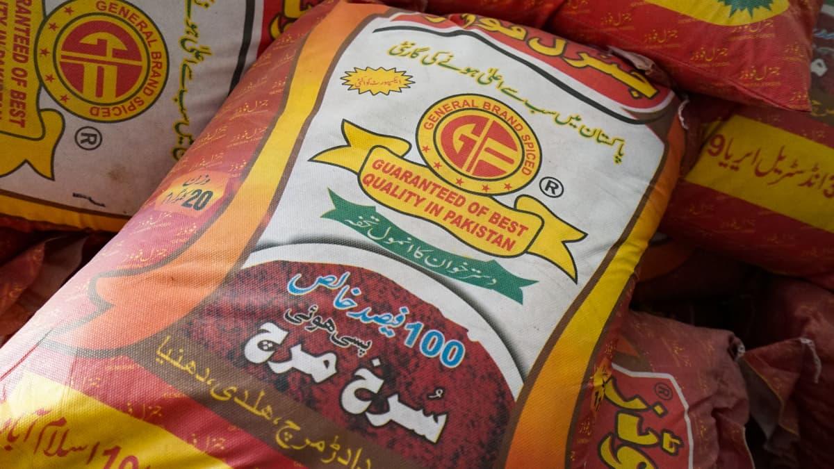 Chiliä Pakistanista.