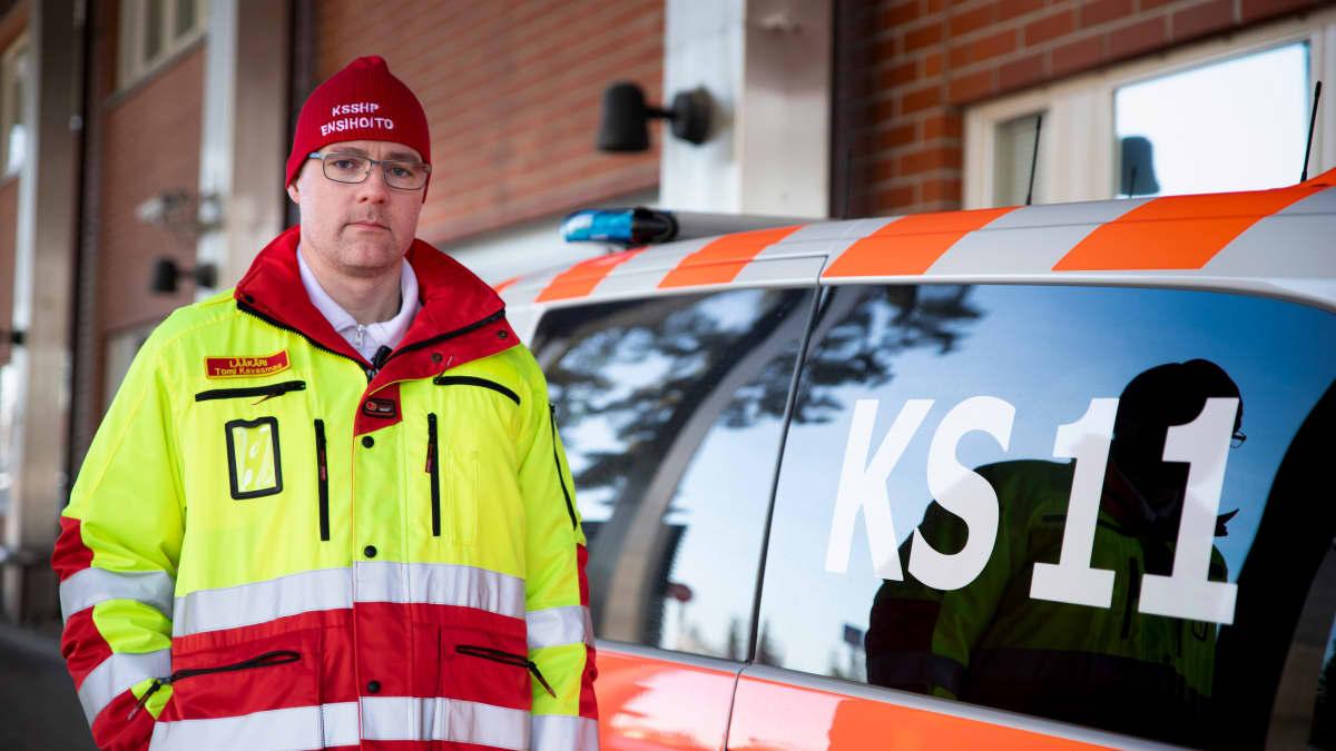 Keski-Suomen sairaanhoitopiirin ensihoidon ylilääkäri Tomi Kavasmaa.
