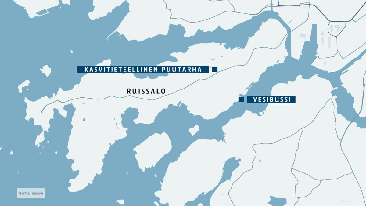 Ruissalon kartta