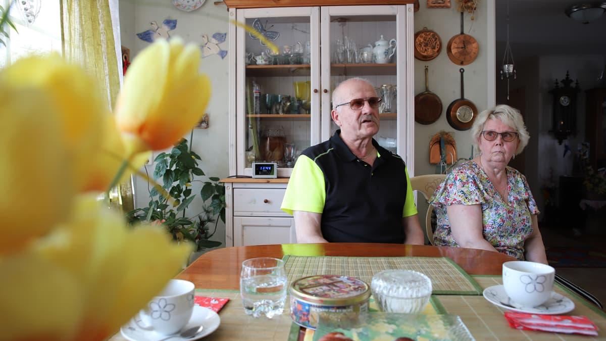 Veikko ja Kirsti Sädesuo kotonaan