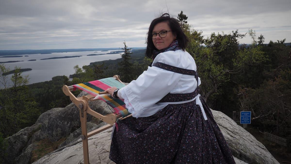 Mari Karjalainen Taito Pohjois-karjala ry:stä Kolin huipulla 2019