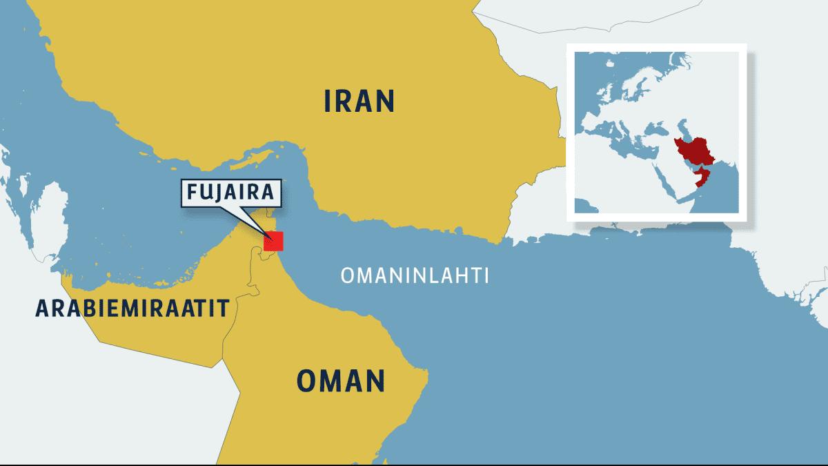 Kartta Omainlahden alueesta