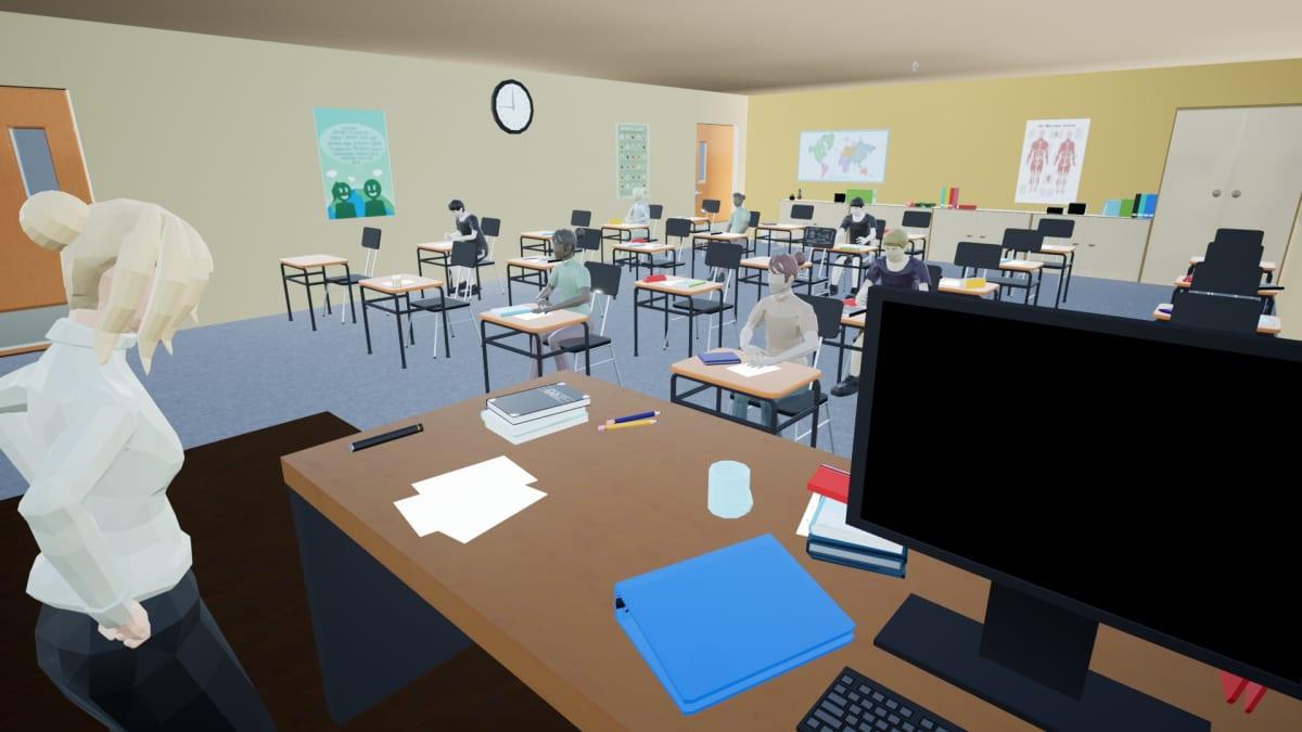 Kuvaa Bullied VR -pelistä.
