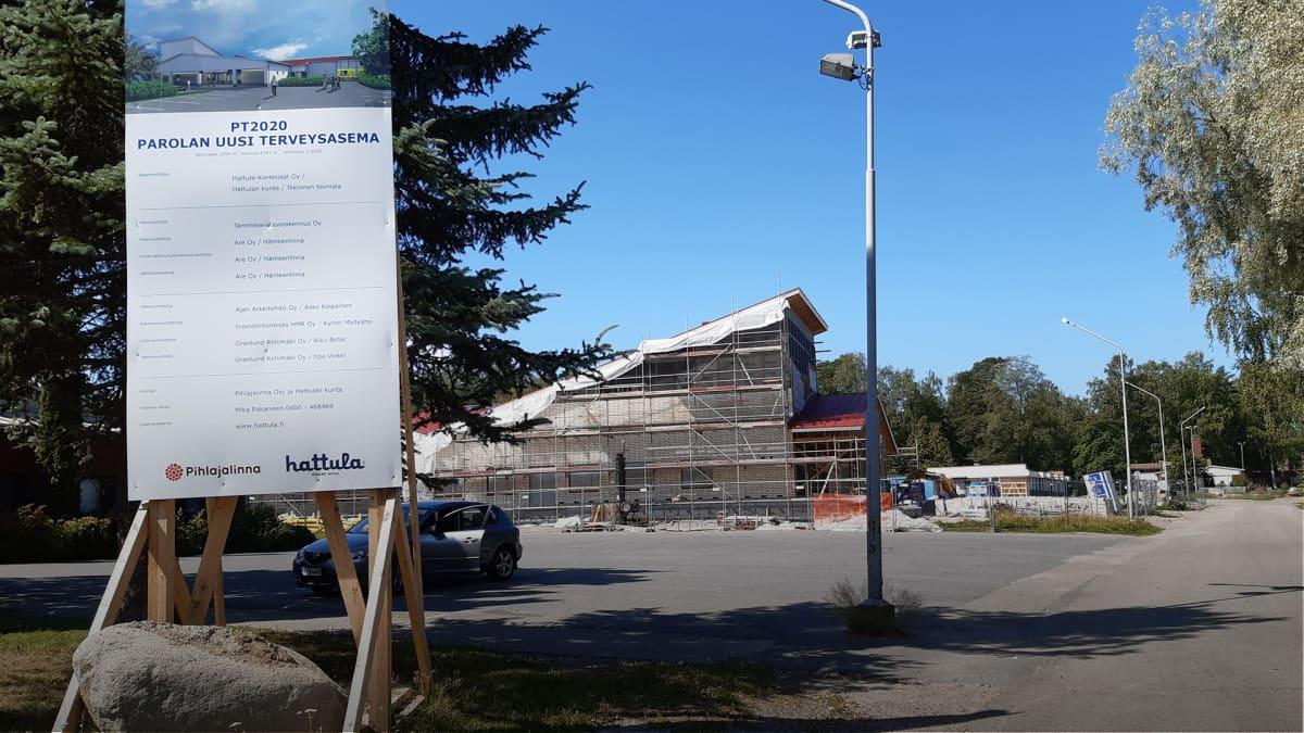 Terveyskeskuksen rakennustyömaa