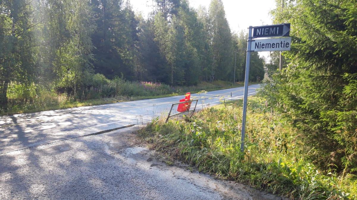 Onnettomuuspaikka Kihniänkylällä Peräseinäjoella 23072019