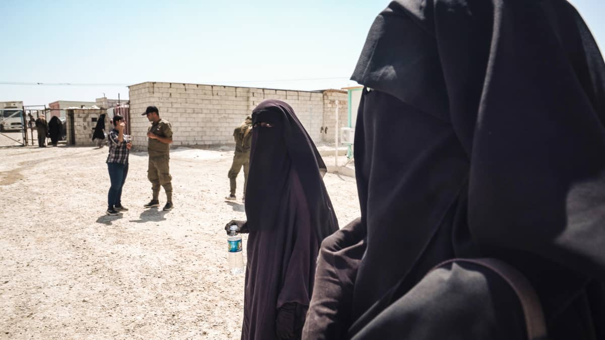 Suomalainen Amina al-Holin leirillä Syyriassa