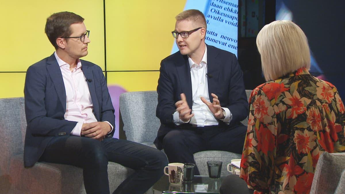 Ekonomistit Ilkka Kaukoranta ja Sami Pakarinen
