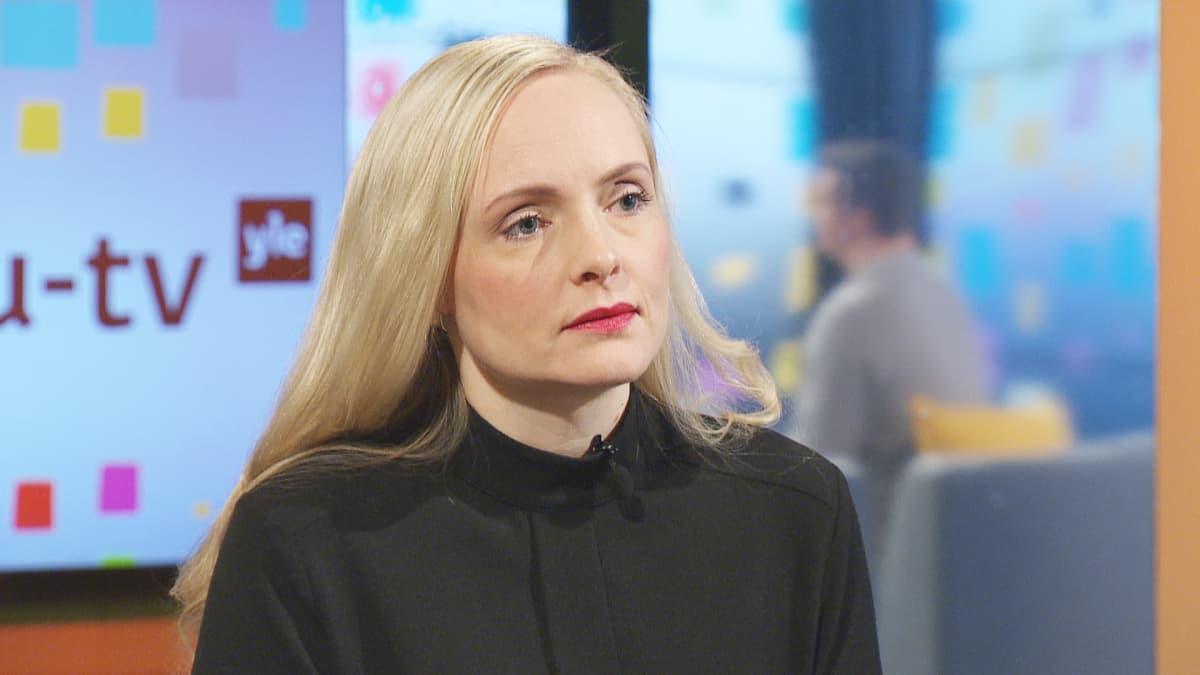 Sisäministeri Maria Ohisalo Ylen Aamu-tv:ssa 2. lokakuuta 2019.