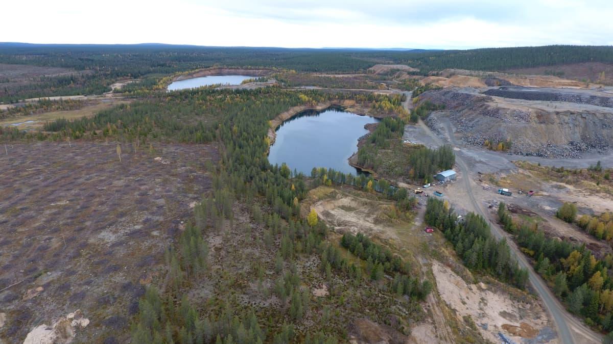 Hannukaisen kaivoshankkeen alueen pohjavesialueiden luokitus on kesken. Hannukainen, Kolari, syyskuu 2019.