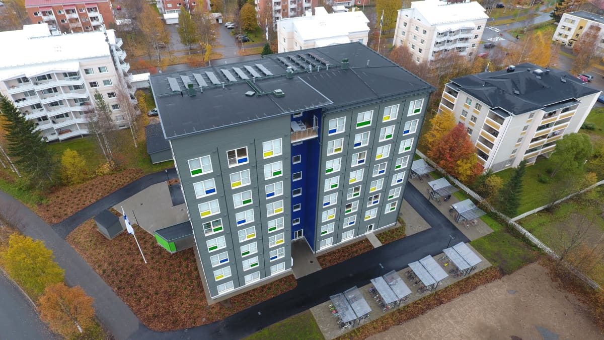 Domus Arctican puukerrostalo Kelo. Rovaniemi, Rantavitikka 10.10.2019