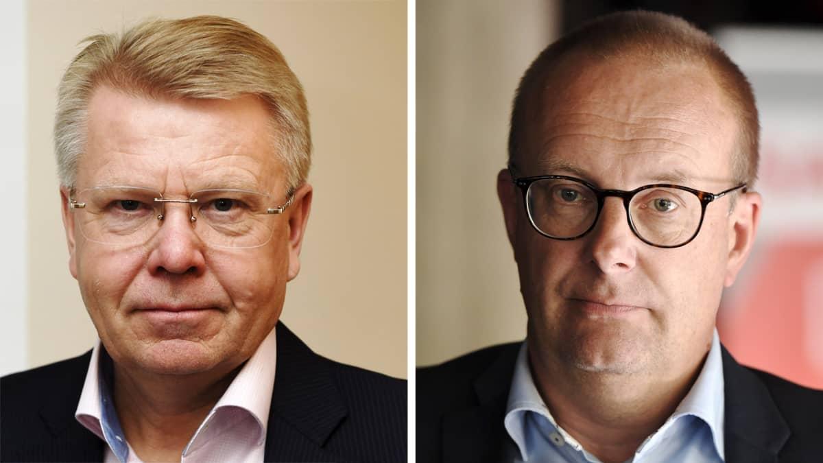 Kuvassa on Jyri Häkämies ja Jarkko Eloranta.