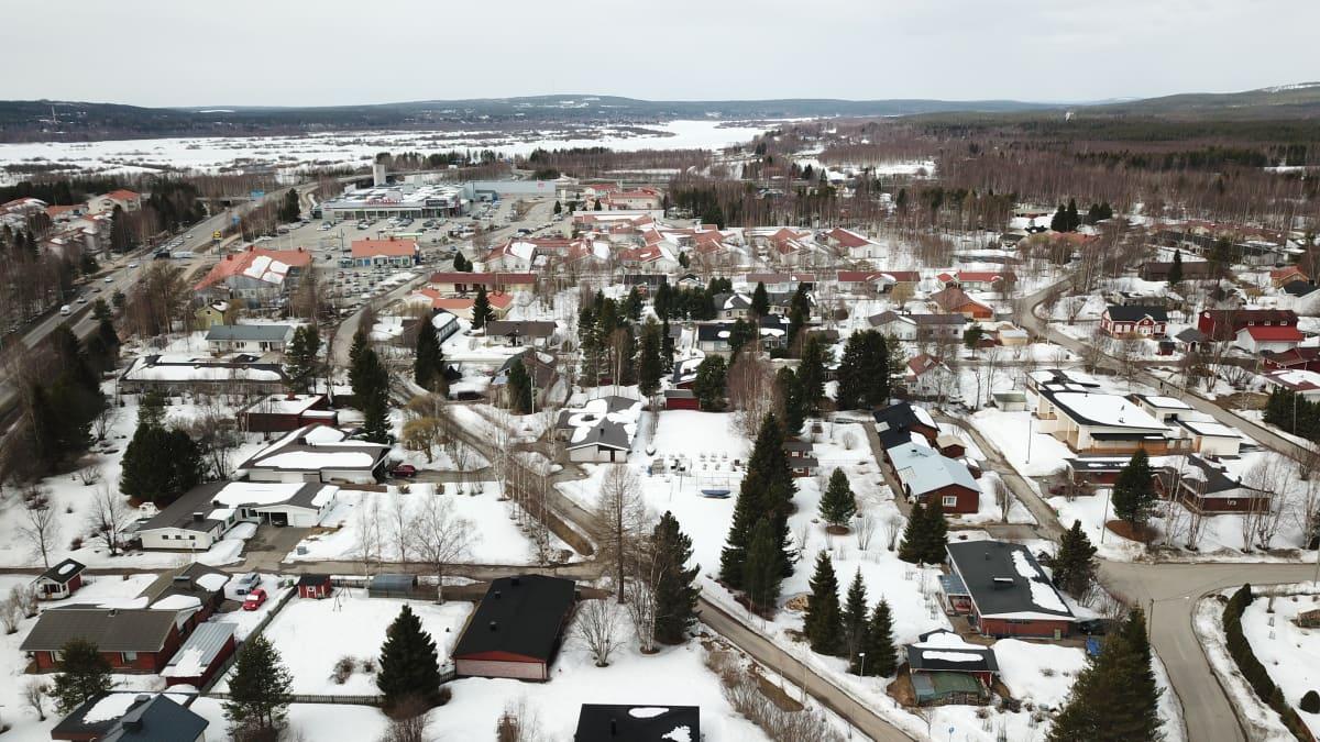 Rovaniemi Saarenkylä omakotialue ja kauppa-alue