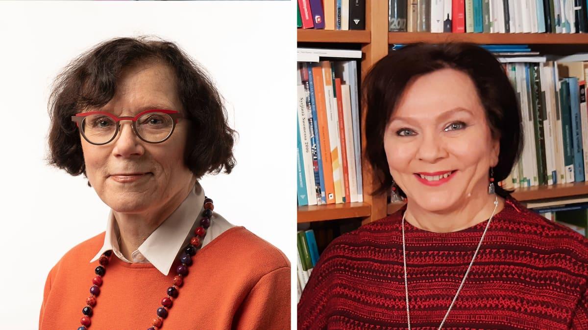 Kuvapari Marja Jylhästä ja Marja Vaaramaasta.