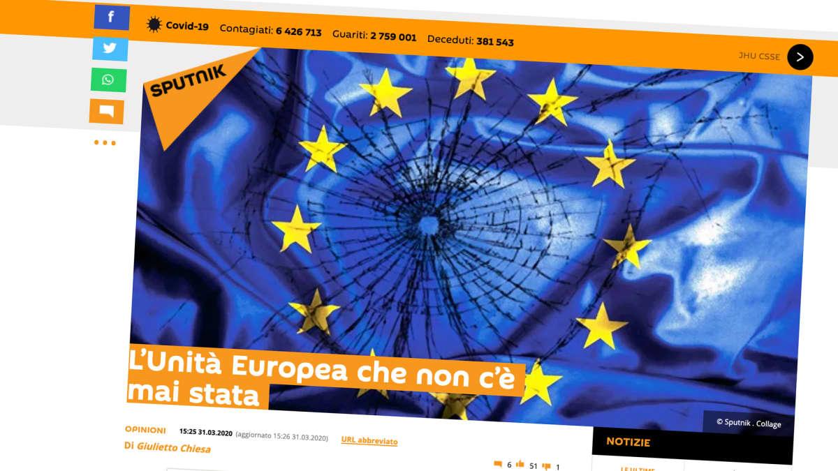 Kuvakaappaus Sputnik Italia