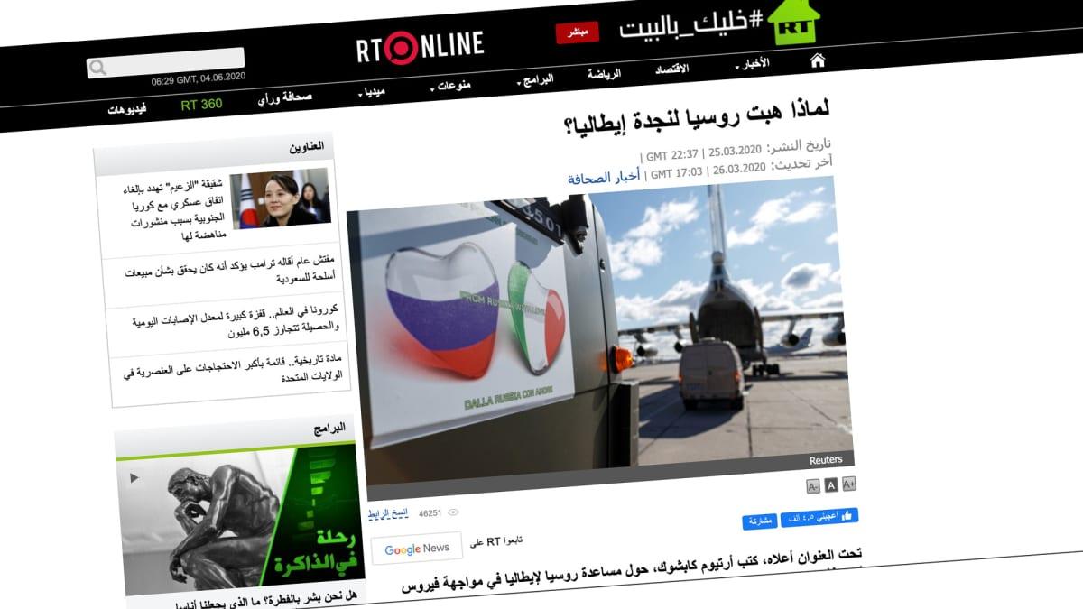 Kuvakaappaus RT Arabic