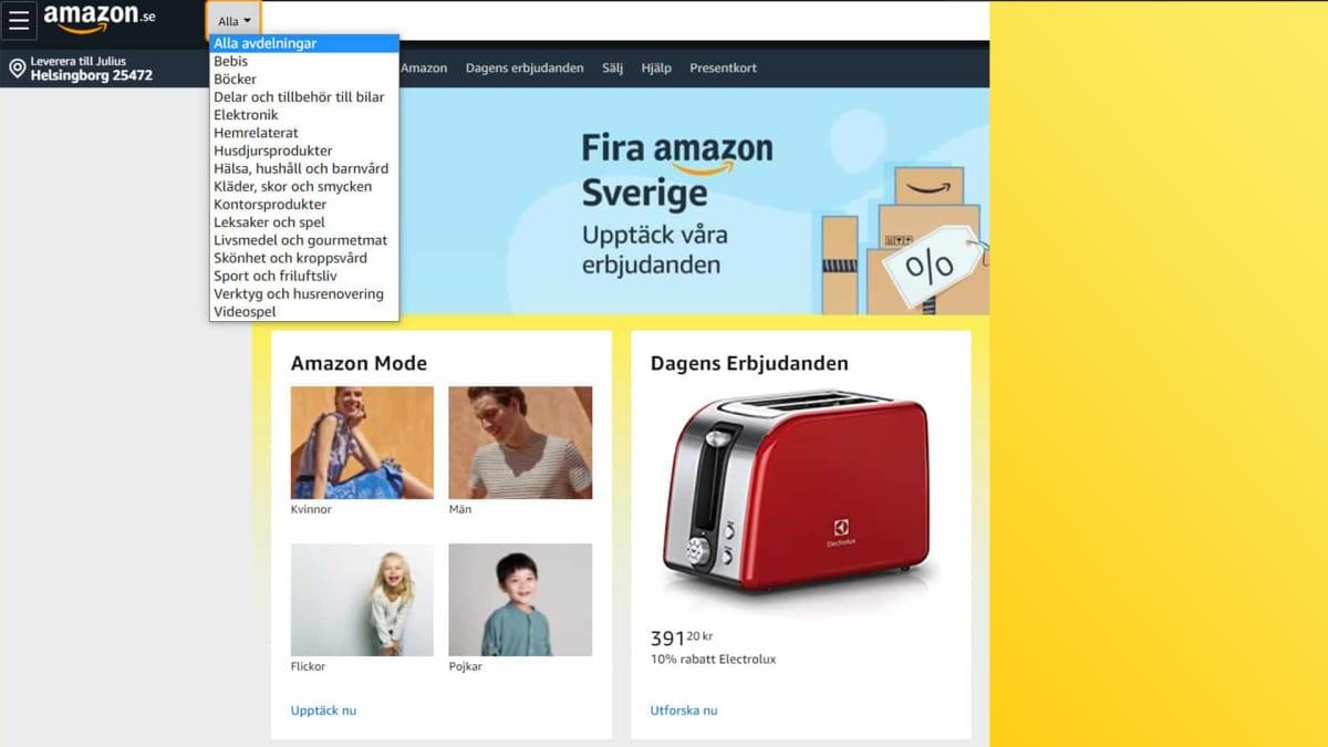 Amazonin ruotsalaisesta verkkokaupasta alkoi levitä kuvia verkossa.