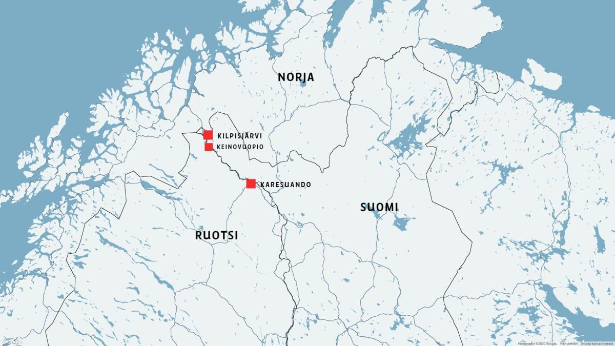 Keinovuopio on Ruotsin pohjoisin asuttu kylä.