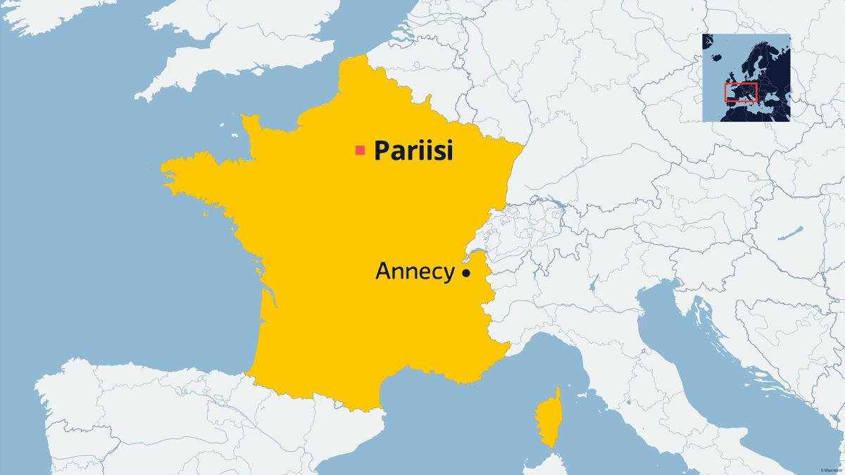 Ranskan kartta.