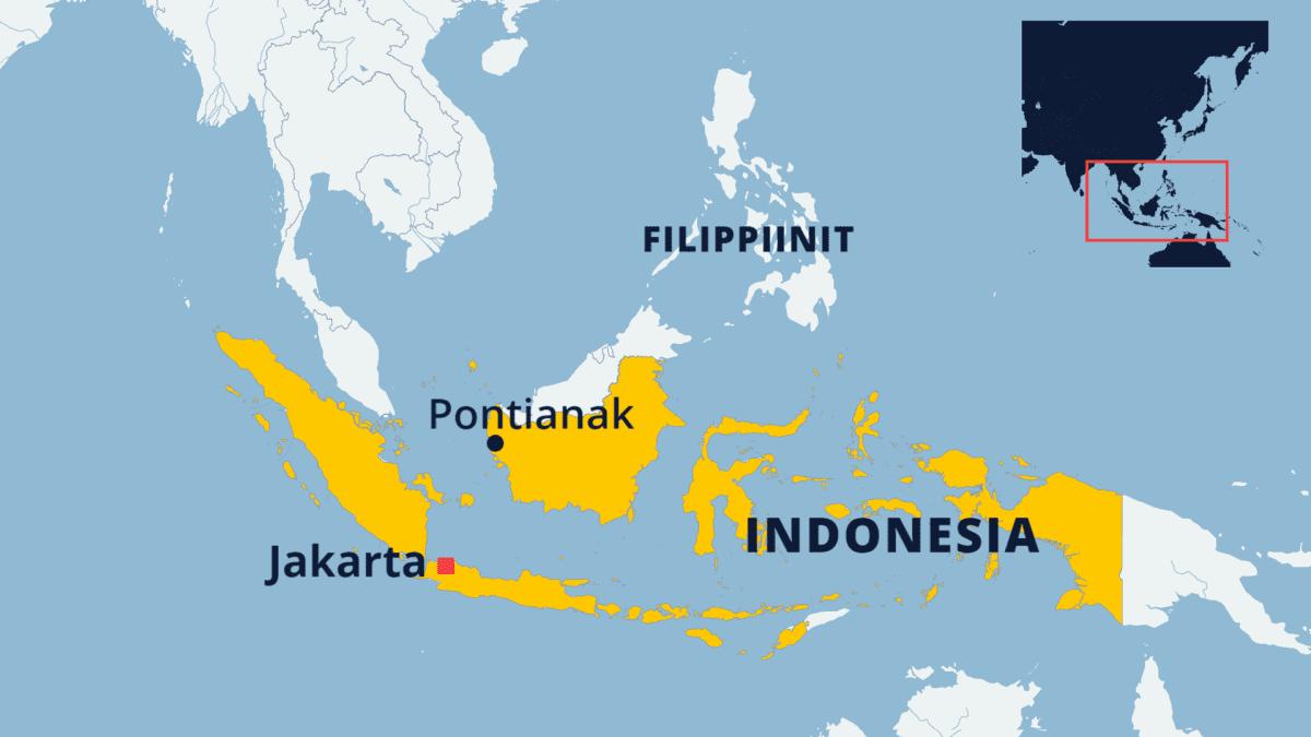 Indonesian kartta