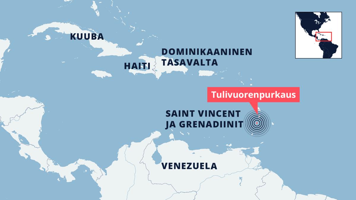 Kartta Karibianmeren alueesta.