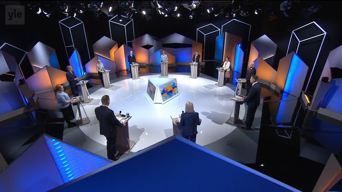 suuri vaalikeskustelu 11.5.2021 kuntavaalit 2021 studio