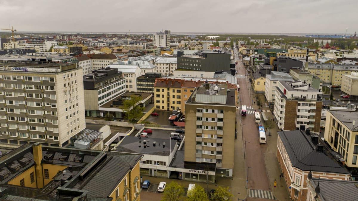 Ilmakuva Oulun kaupungista.