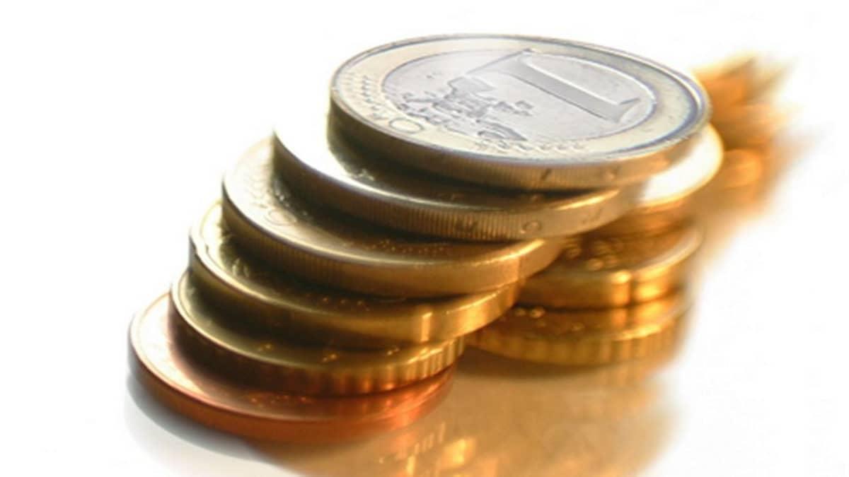 Euron kolikoita.
