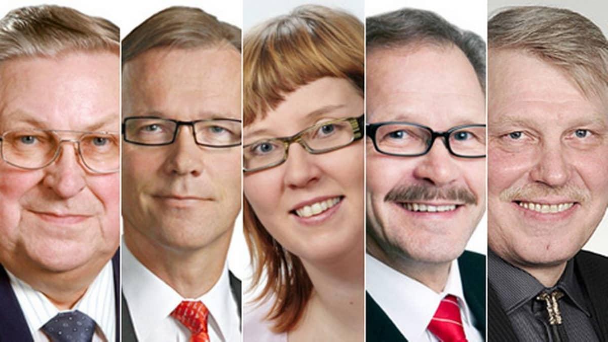 Kainuulaiset kansanedustajat kaudelle 2011 - 2015.