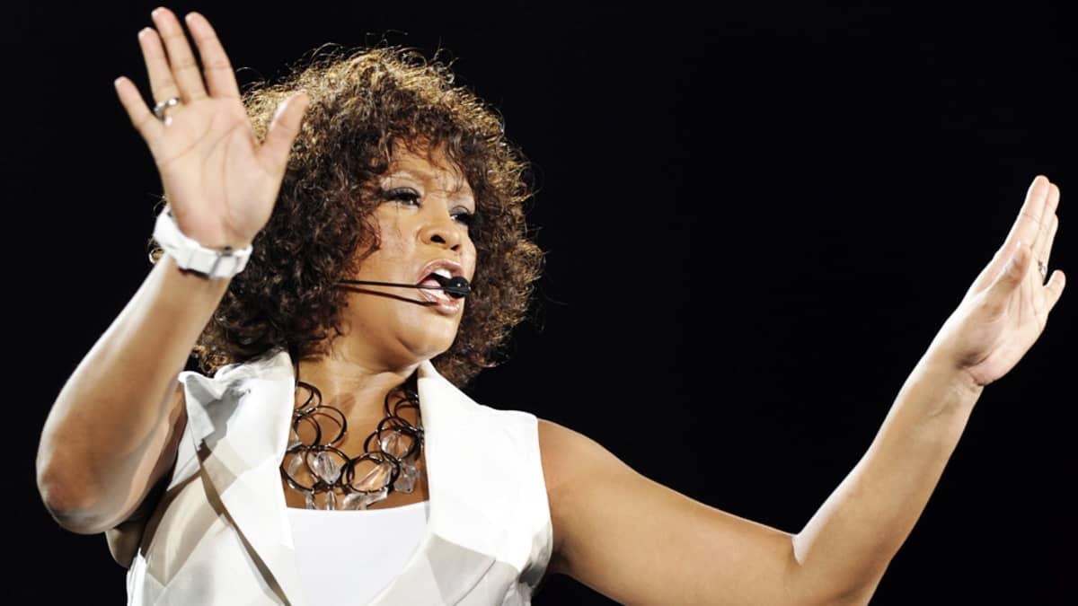 Whitney Houston esiintyi Zürichissä Sveitsissä 9. toukokuuta 2010.