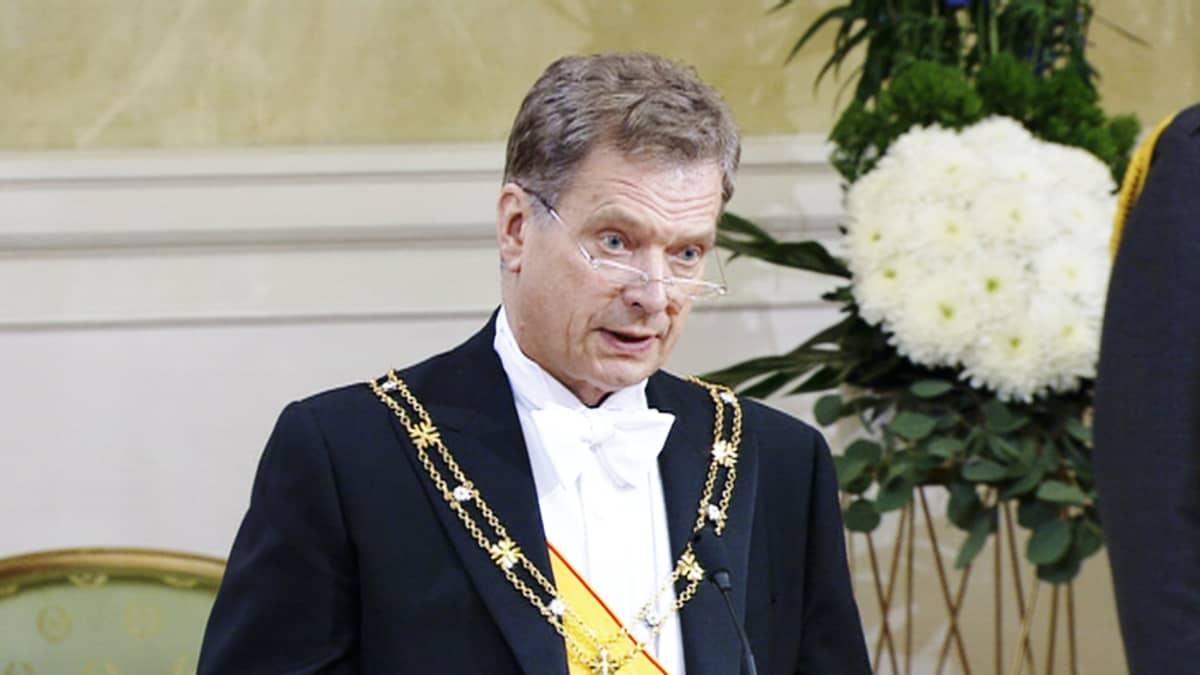 Tuore tasavallan presidentti Sauli Niinistö.