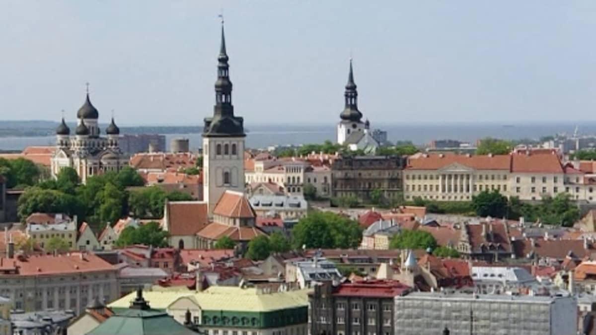Näkymä Tallinnan Vanhaankaupunkiin.