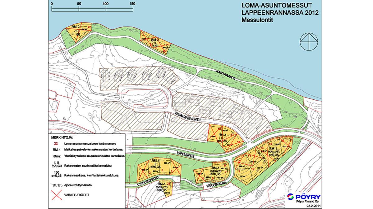 Loma-asuntomessut Lappeenrannassa 2012, Messutontit