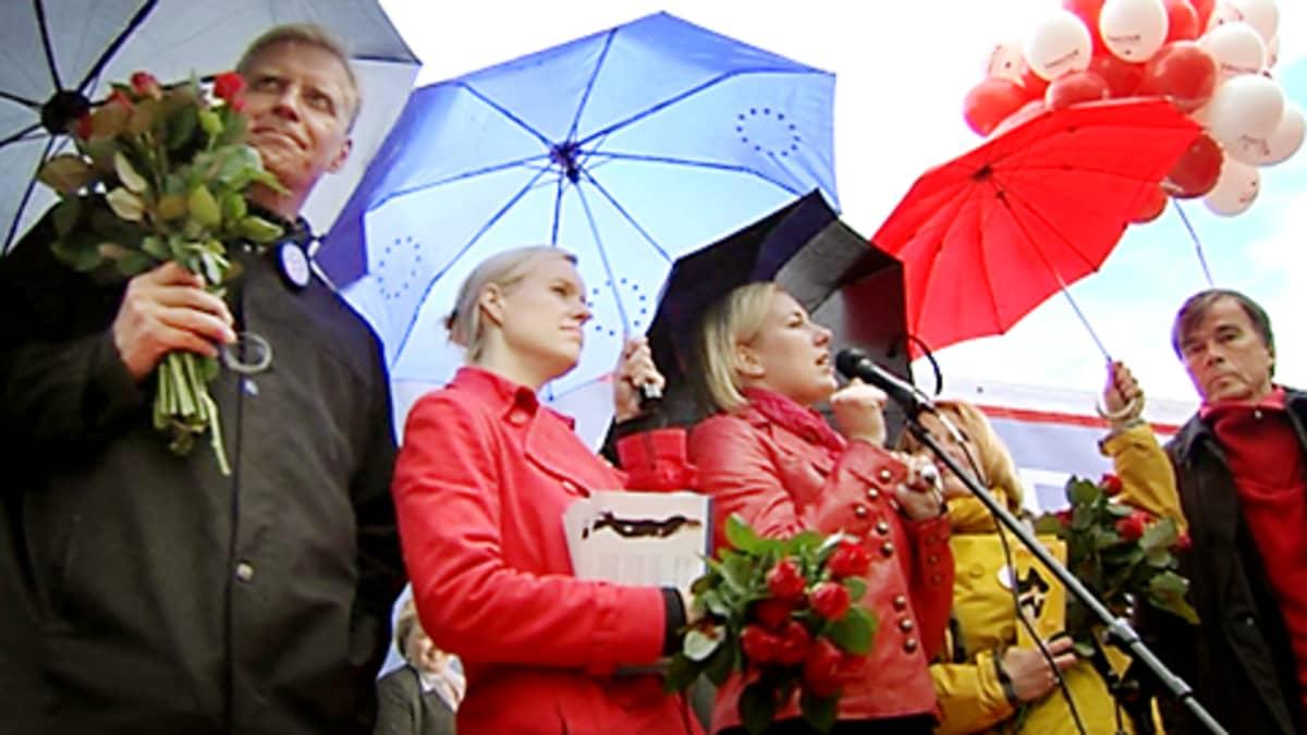 SDP:n eurovaalikampanjointia.