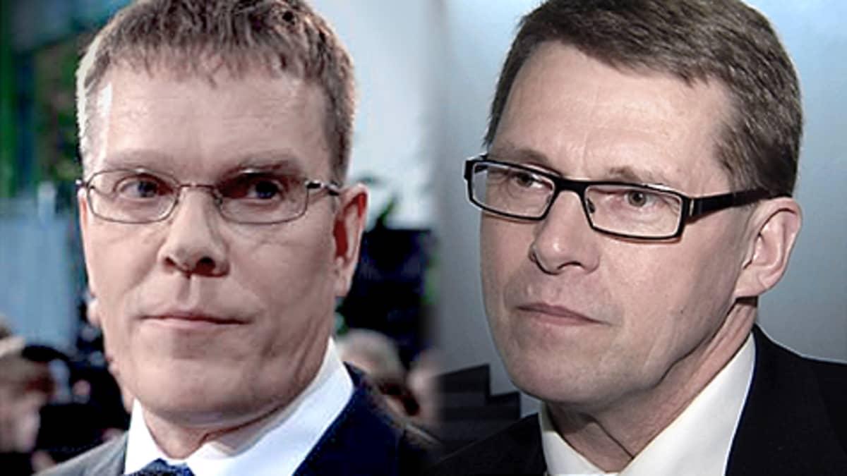 Jarmo Korhonen ja Matti Vanhanen.