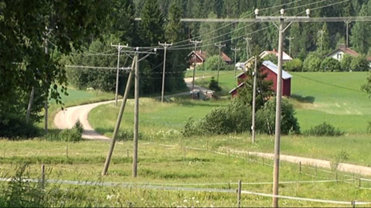 Haukilan kylät, Valkeakoski. Maaseutu, pelto.
