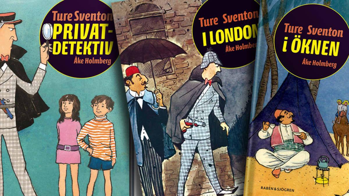 Kustantajan aiemmin uudelleenjulkaisemia Ture Sventon -kirjoja.